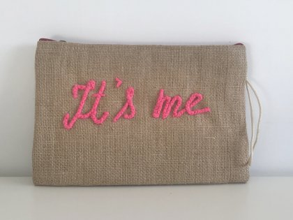 Pochette à message It's me Rose GM