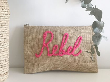 Pochette à message Rebel rose GM
