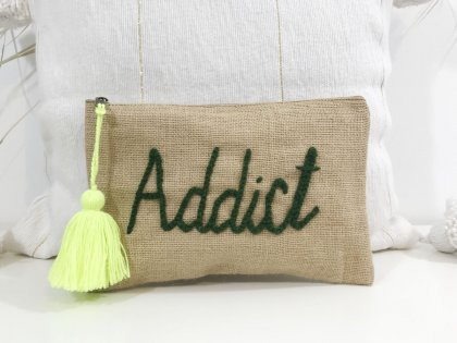 Pochette à message Addict kaki GM