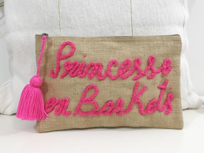 Pochette à message Princesse en baskets rose fluo GM